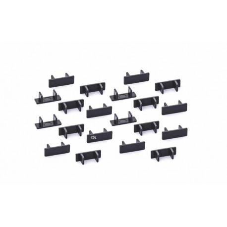 Policar CLIPS pour rails x20 pièces