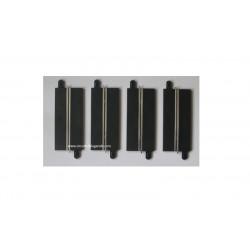 Scalextric RAIL monovoie droit 175 mm x4 pièces