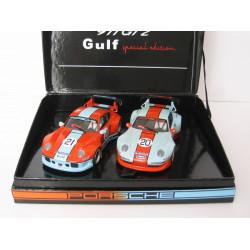 REVOSLOT Twin Pack Gulf PORSCHE 911 GT2 n° 20 + n° 21