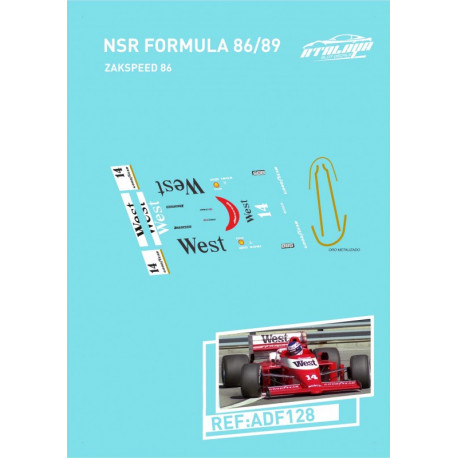 Atalaya décalques pour Formule 1 NSR 1986/89