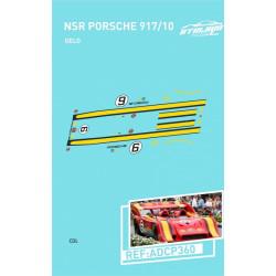 """Atalaya décals PORSCHE 917/10 T NSR n°6 """"Gelo Racing"""""""