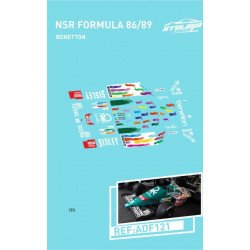 Atalaya décals F1 NSR 1986/89 Benetton Berger