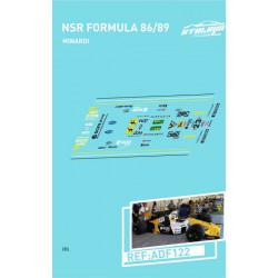 Atalaya décals F1 NSR 1986/89 Minardi M189