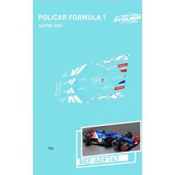 Atalaya décals F1 Policar 2021 Alpine présentation