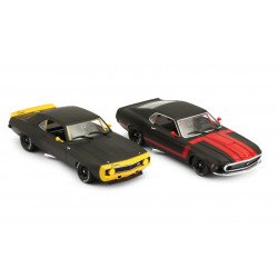 1/24° BRM coffret Camaro + Mustang Black Edition