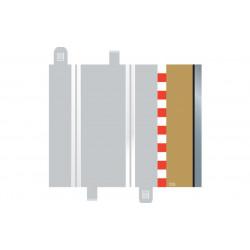 Scalextric BORDURES droites 17.5 mm + glissière