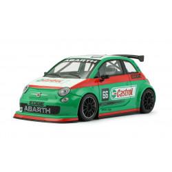 """NSR FIAT Abarth 500 Corse n°66 """"Castrol"""" verte"""