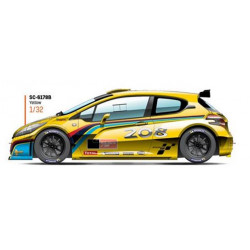 SCALEAUTO PEUGEOT 208 T16 Cup Edition yellow