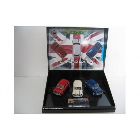 SCALEXTRIC Coffret Mini Diamond Edition / Commemorative Triple Pack