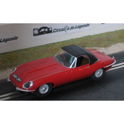 "Scalextric JAGUAR E-Type cabriolet rouge ""848 CRY"""