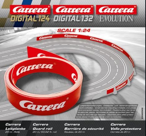 Carrera 20589 Bordures 1//4 Droite x4